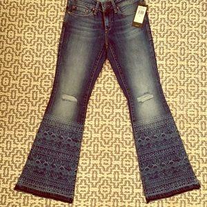 """Mavi """"peace"""" flare stretch mid rise jeans"""